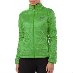 Patagonia lime green nano puff jacket size small